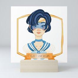Fight Like a Girl - Sailor Mercury Mini Art Print