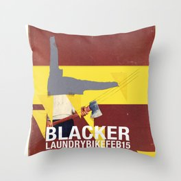 Mary Chain & Blacker band poster Throw Pillow