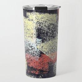 Multicolor abstract black Travel Mug