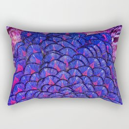 Blue and pink coloured feathers  Rectangular Pillow