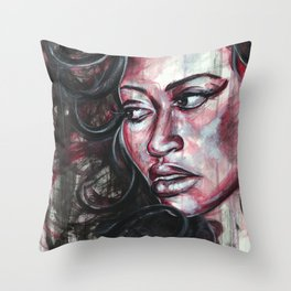Red Watercolor Throw Pillow