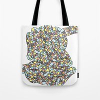 peanuts Tote Bags featuring Peanuts by SpiritAnimal