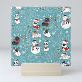 Christmas French Bulldog Mini Art Print
