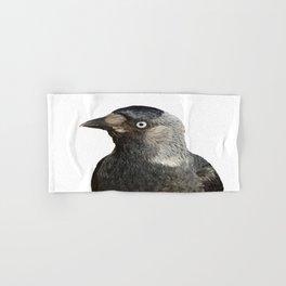 Jackdaw (Corvus monedula) Bird Portrait Vector Hand & Bath Towel