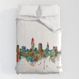 Cleveland Watercolor Skyline Comforters