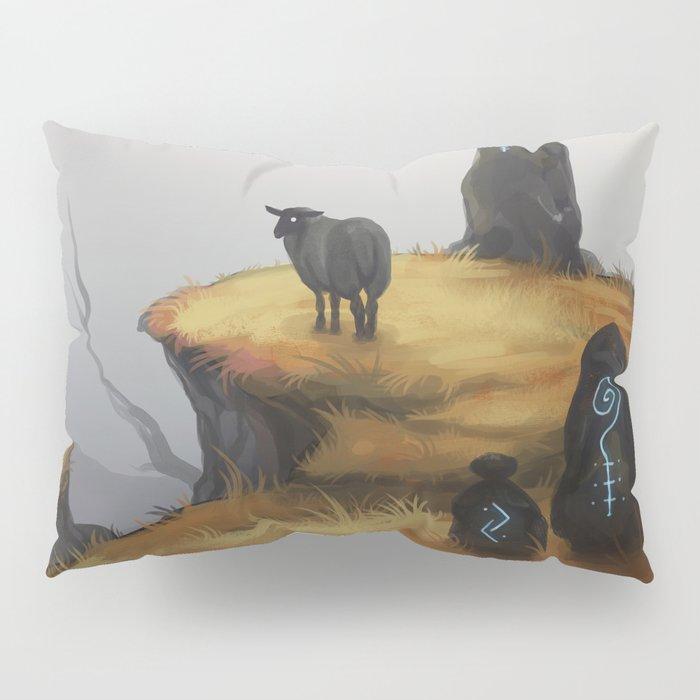 Ruins - orange Pillow Sham