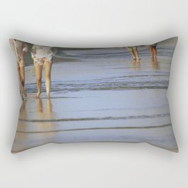 2's at the Beach Rectangular Pillow