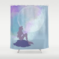 ariel Shower Curtains featuring ariel by Vita♥G