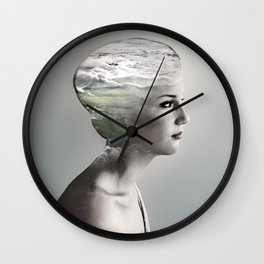 There is an ocean i my soul Wall Clock