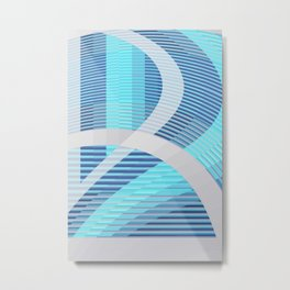 Resonance (blue-aqua) Metal Print