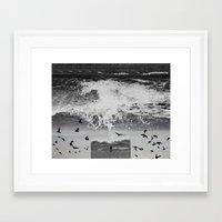 waterfall Framed Art Prints featuring WaterFall by Sergio Varanitsa