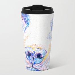 Lotte, the rescue dog Metal Travel Mug