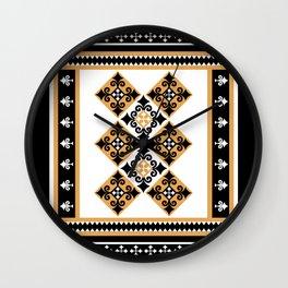 Thundu kunaa pattern (black) Wall Clock