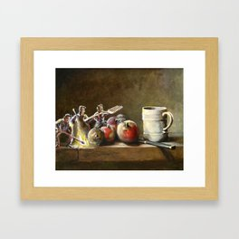 Still Life with Tiny Evil Ashes: After Chardin Framed Art Print