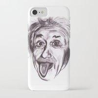 einstein iPhone & iPod Cases featuring Einstein by Alicia Evans