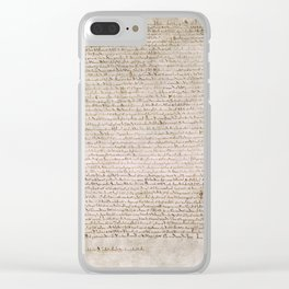 The Magna Carta 0f 1215 Clear iPhone Case
