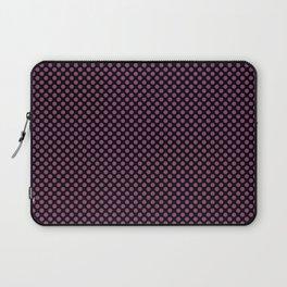 Black and Sugar Plum Polka Dots Laptop Sleeve