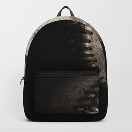 Battered Baseball in Black and White Backpack