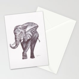 BALLPEN ELEPHANT 2 Stationery Cards