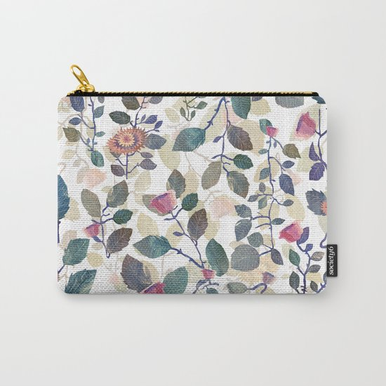 climb white leaves Carry-All Pouch