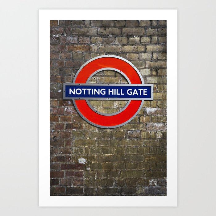 Notting Hill Gate Tube Sign Art Print