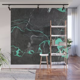 Grey and Blue Marble Wall Mural