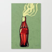 yetiland Canvas Prints featuring Genie out the bottle by Yetiland