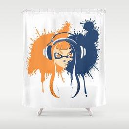 Splatoon: Squid Girl Splash Jam Shower Curtain
