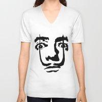 salvador dali V-neck T-shirts featuring salvador dali by b & c