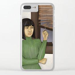 Bad B*tch w/ Bl*nt Clear iPhone Case
