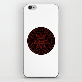 Wiccan symbols- Cross of Sulfur, Triple Goddess, Sigil of Baphomet and Lucifer iPhone Skin