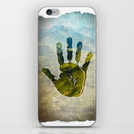 Hand Print iPhone Skin