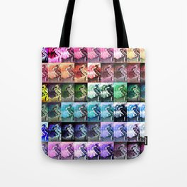 The Dancer Colorful Rainbow Collage Tote Bag