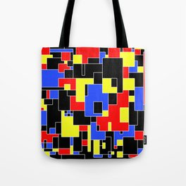 Primary Plans - Abstract, geometric map in primary colours Tote Bag