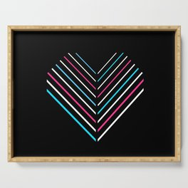 Transcend Neon Heart Serving Tray