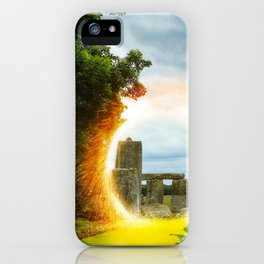 Magical Portal to Stonehenge iPhone Case