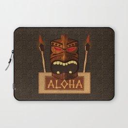 Vintage Wood Tiki Aloha Laptop Sleeve