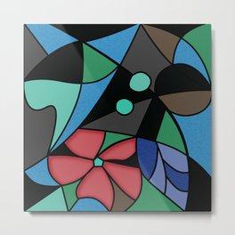 Abstract pattern Mosaic . Metal Print