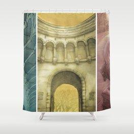 Bufallo Bridge Triptych Shower Curtain
