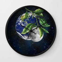 Full moon and Earth Wall Clock