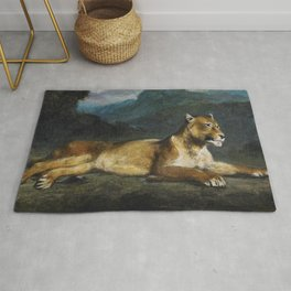 Lioness Reclining - Digital Remastered Edition Rug