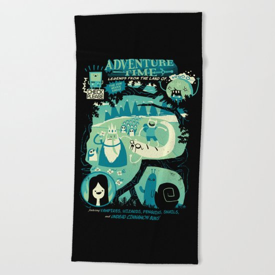 Legends from the Land of Ooo Beach Towel
