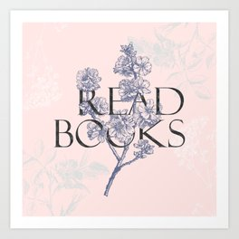 Read Books vintage typography Art Print