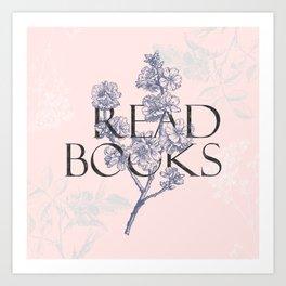 Read Books vintage typography Art Print