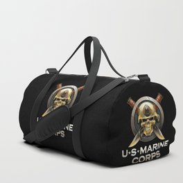 Military badge with marine skull Duffle Bag