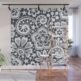White Lace. Seamless Pattern. Wall Mural