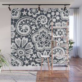 White Lace. Seamless Pattern. Wall Mural