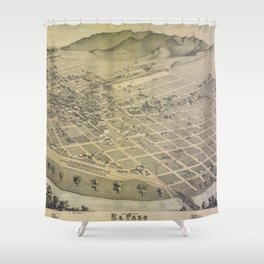 El Paso, Texas  1886 Shower Curtain
