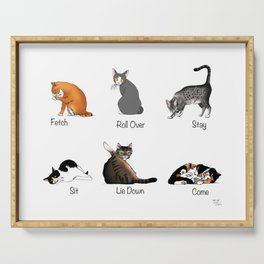 Cat Commands Serving Tray