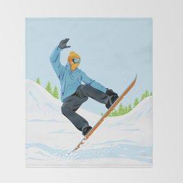 Snowboarder Throw Blanket